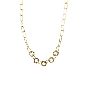 LOTZ & LOT ROUNDS & LINKS NECKLACE - GOLD