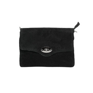 LOTZ & LOT NOUK SUEDE CLUTCH - BLACK