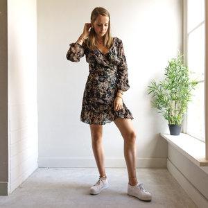 LOTZ & LOT KAAT FLOWER DRESS - GREEN/PINK