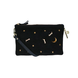 Lou Lou MOONLIGHT CLUTCH - BLACK/GOLD