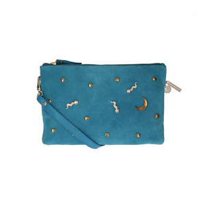 Lou Lou MOONLIGHT CLUTCH - BLUE/GOLD