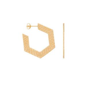 Eline Rosina HEXAGON HOOPS - GOLD