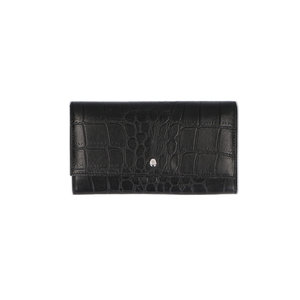 Lou Lou BELLE CROCO WALLET - BLACK