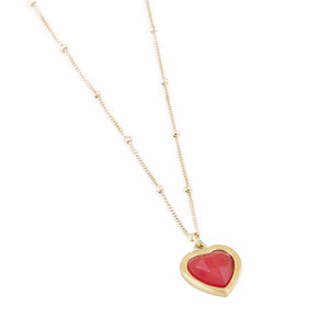 My Jewellery POWERSTONE NECKLACE - RED/GOLD