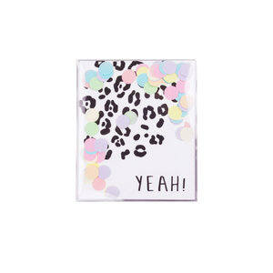 The Gift Label CONFETTI CARD - YEAH