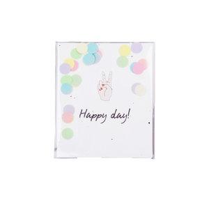 The Gift Label CONFETTI CARD - HAPPY DAY