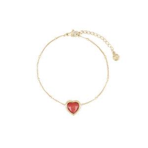 My Jewellery POWERSTONE BRACELET - RED/GOLD