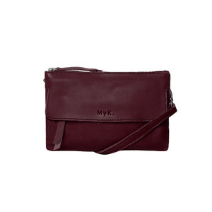 Myk. Bags JUNO CLUTCH - WINE
