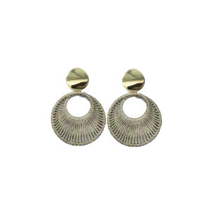 Go Dutch NOAH ROUND EARRINGS - GOLD/GREY