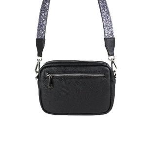 Baggyshop SPARKLE BAG - BLACK/SILVER