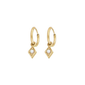 My Jewellery DIAMOND & PEARL EARRINGS - GOLD