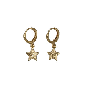 LOTZ & LOT STAR EARRING - GOLD