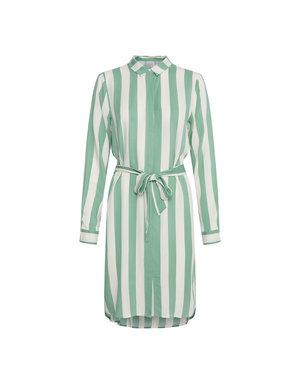 ICHI EMILY STRIPED DRESS - MINT
