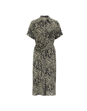 Ydence LIBBY DRESS - BLACK/GREEN