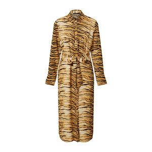 Rut & Circle SOFI SHIRT DRESS- TIGER PRINT