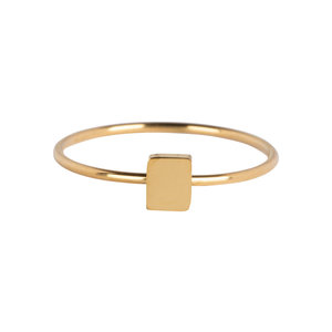 Charmin's CHARMIN'S RECTANGLE RING - GOLD