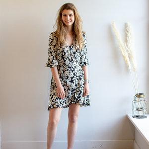 Ambika ISABEAU FLOWER DRESS - BLACK/WHITE
