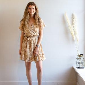 LOTZ & LOT LILA FLOWER DRESS - BEIGE