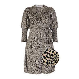 Ambika TAYLOR PANTER DRESS - BLACK/GREEN