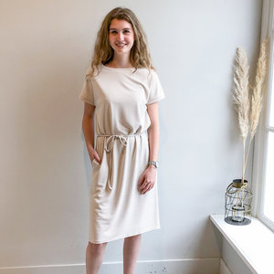 REBELZ RBLZ SHIRT DRESS - BEIGE