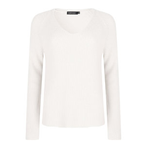 Ydence TESS KNITTED SWEATER - WHITE