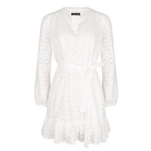 Ydence KYLEE EMBROIDERED DRESS - WHITE