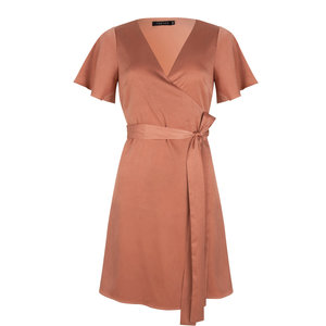 Ydence ALICE WRAP DRESS - RUST