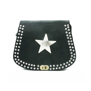 Studs & Stones MO BAG DOUBLE STUDS - BLACK