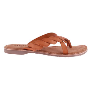 Lazamani BRAIDED FLIPFLOP - BROWN