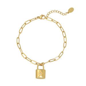 Lotz & Lot LITTLE LOCK BRACELET - GOLD