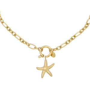 LOTZ & LOT STARFISH CHAIN NECKLACE - GOLD
