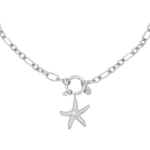 Lotz & Lot STARFISH CHAIN NECKLACE - SILVER