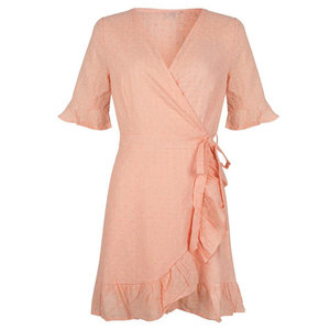LOTZ & LOT EMBROIDERY DRESS - PEACH