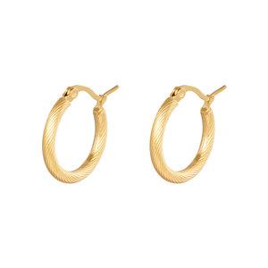 Lotz & Lot EARRING HOOPS TWISTED - GOLD 22 MM