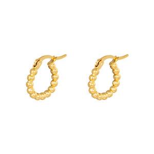 Lotz & Lot EARRING HOOPS SPHERES - GOLD 15 MM