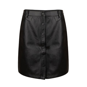 Ydence ROX LEATHER SKIRT - BLACK