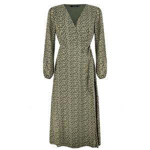 Ydence SABINE WRAP DRESS - GREEN
