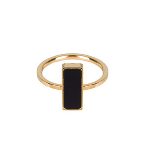 Charmin's CHARMIN'S SEAL RING RECTANGLE - GOLD/BLACK