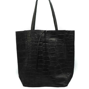 Lotz & Lot MIA CROCO  SHOPPER - BLACK