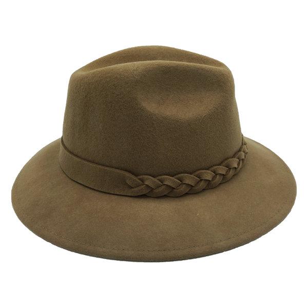 Lotz & Lot JOE BRAIDED HAT - TAUPE
