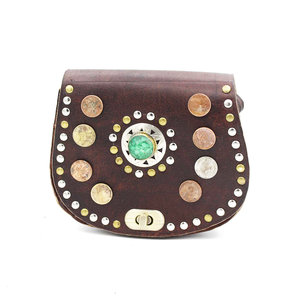 Studs & Stones JOE BAG S - BROWN