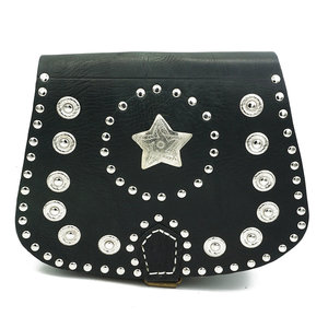 Studs & Stones NOAH SILVER STAR BAG - BLACK