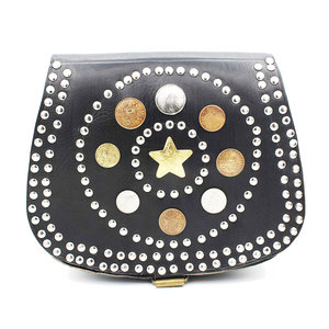 Studs & Stones MARE GOLDEN STAR BAG - BLACK