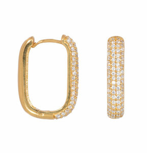 Eline Rosina ICON PAVE HOOPS - GOLD