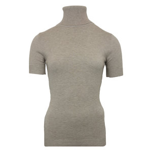 Lotz & Lot QUINTY TURTLENECK SHORT SLEEVE - TAUPE