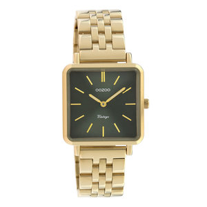 Oozoo OOZOO VINTAGE CHAIN WATCH - GOLD/GREEN