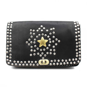 Studs & Stones KAAT GOLDEN STAR BAG - BLACK