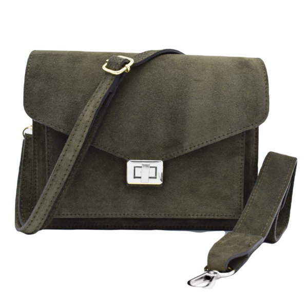Number Five BEAU BAG - GREEN/SILVER