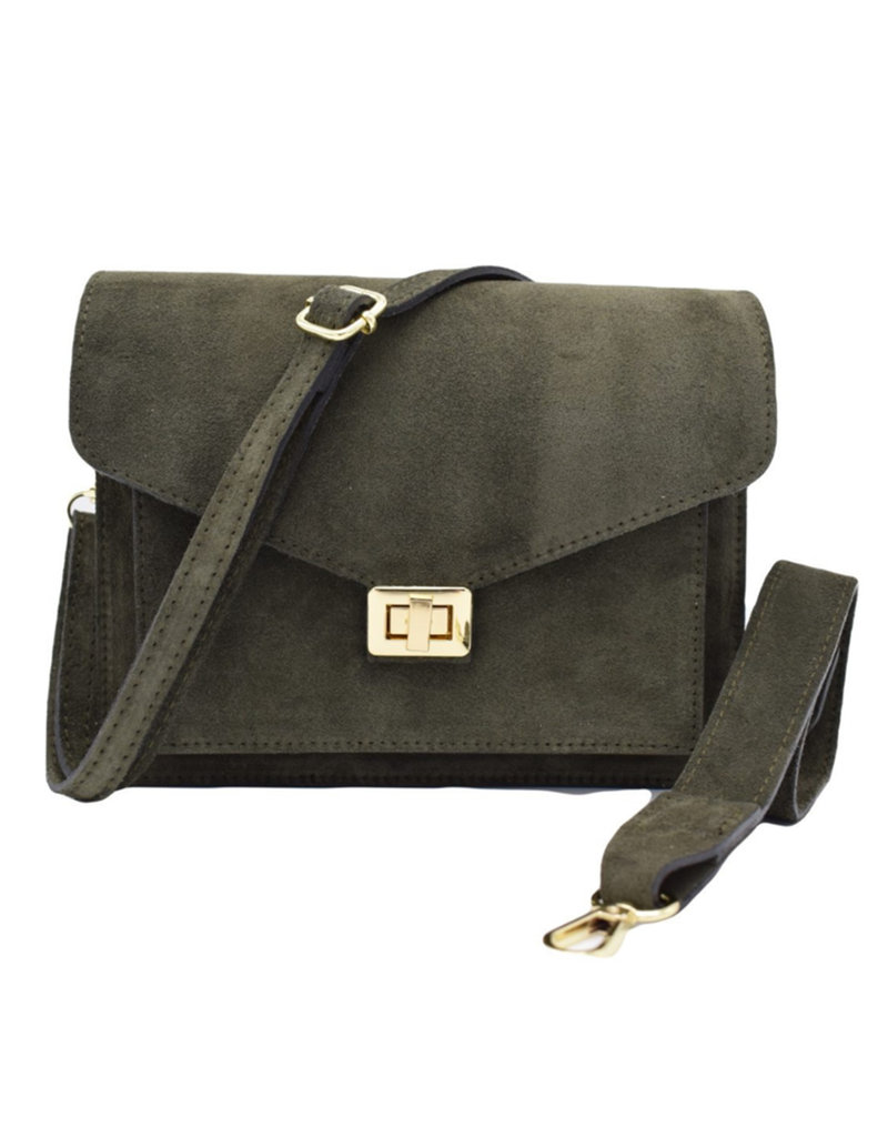 Number Five BEAU BAG - GREEN/GOLD