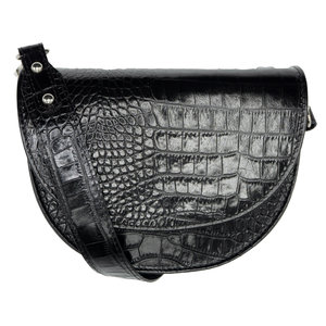 Lotz & Lot HALF MOON BAG - BLACK